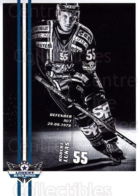 2017-18 EBEL EHC Liwest Black Wings Linz Postcards #14 Robert Lukas<br/>1 In Stock - $3.00 each - <a href=https://centericecollectibles.foxycart.com/cart?name=2017-18%20EBEL%20EHC%20Liwest%20Black%20Wings%20Linz%20Postcards%20%2314%20Robert%20Lukas...&quantity_max=1&price=$3.00&code=720259 class=foxycart> Buy it now! </a>