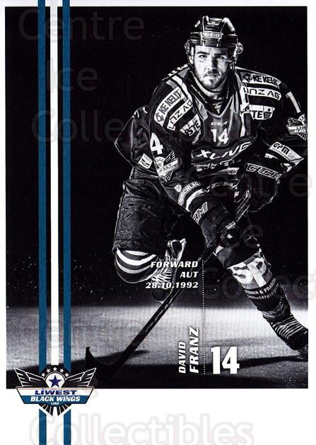 2017-18 EBEL EHC Liwest Black Wings Linz Postcards #19 David Franz<br/>1 In Stock - $3.00 each - <a href=https://centericecollectibles.foxycart.com/cart?name=2017-18%20EBEL%20EHC%20Liwest%20Black%20Wings%20Linz%20Postcards%20%2319%20David%20Franz...&quantity_max=1&price=$3.00&code=720264 class=foxycart> Buy it now! </a>