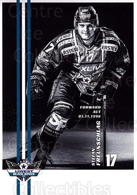 2017-18 EBEL EHC Liwest Black Wings Linz Postcards #20 Stefan Freunschlag<br/>1 In Stock - $3.00 each - <a href=https://centericecollectibles.foxycart.com/cart?name=2017-18%20EBEL%20EHC%20Liwest%20Black%20Wings%20Linz%20Postcards%20%2320%20Stefan%20Freunsch...&quantity_max=1&price=$3.00&code=720265 class=foxycart> Buy it now! </a>