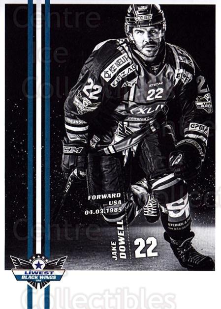 2017-18 EBEL EHC Liwest Black Wings Linz Postcards #23 Jake Dowell<br/>1 In Stock - $3.00 each - <a href=https://centericecollectibles.foxycart.com/cart?name=2017-18%20EBEL%20EHC%20Liwest%20Black%20Wings%20Linz%20Postcards%20%2323%20Jake%20Dowell...&quantity_max=1&price=$3.00&code=720268 class=foxycart> Buy it now! </a>