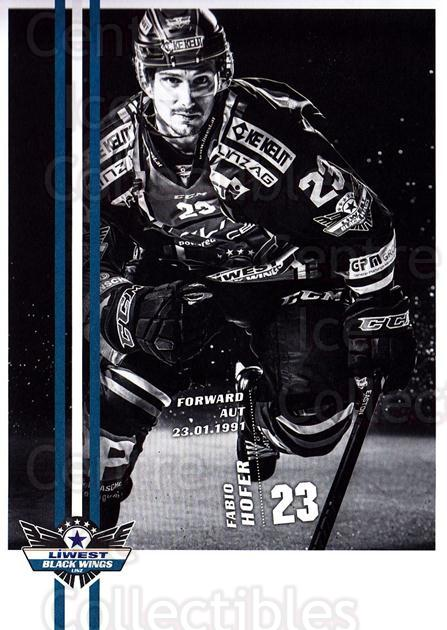 2017-18 EBEL EHC Liwest Black Wings Linz Postcards #24 Fabio Hofer<br/>1 In Stock - $3.00 each - <a href=https://centericecollectibles.foxycart.com/cart?name=2017-18%20EBEL%20EHC%20Liwest%20Black%20Wings%20Linz%20Postcards%20%2324%20Fabio%20Hofer...&quantity_max=1&price=$3.00&code=720269 class=foxycart> Buy it now! </a>