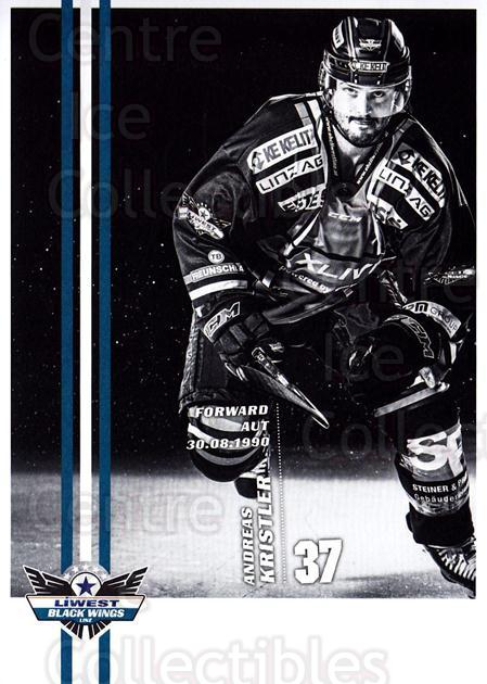2017-18 EBEL EHC Liwest Black Wings Linz Postcards #25 Andreas Kristler<br/>1 In Stock - $3.00 each - <a href=https://centericecollectibles.foxycart.com/cart?name=2017-18%20EBEL%20EHC%20Liwest%20Black%20Wings%20Linz%20Postcards%20%2325%20Andreas%20Kristle...&quantity_max=1&price=$3.00&code=720270 class=foxycart> Buy it now! </a>