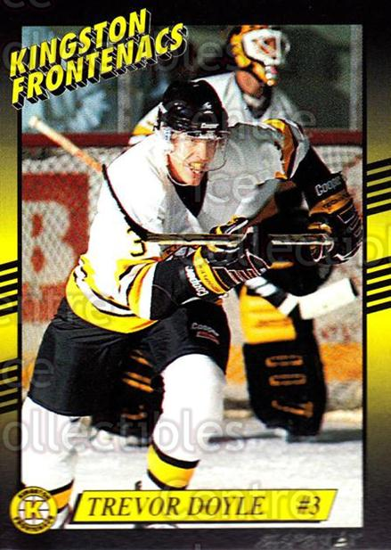 1993-94 Kingston Frontenacs #5 Trevor Doyle<br/>1 In Stock - $3.00 each - <a href=https://centericecollectibles.foxycart.com/cart?name=1993-94%20Kingston%20Frontenacs%20%235%20Trevor%20Doyle...&price=$3.00&code=7202 class=foxycart> Buy it now! </a>