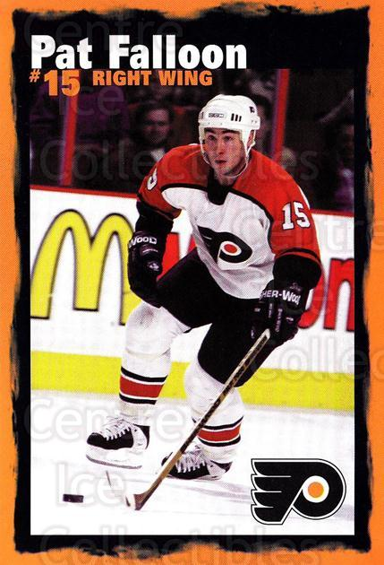 1997-98 Philadelphia Flyers Postcards #5 Pat Falloon<br/>1 In Stock - $3.00 each - <a href=https://centericecollectibles.foxycart.com/cart?name=1997-98%20Philadelphia%20Flyers%20Postcards%20%235%20Pat%20Falloon...&quantity_max=1&price=$3.00&code=720308 class=foxycart> Buy it now! </a>