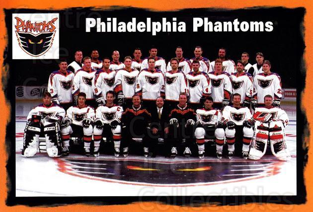 1997-98 Philadelphia Flyers Postcards #27 Philadelphia Phantoms<br/>3 In Stock - $3.00 each - <a href=https://centericecollectibles.foxycart.com/cart?name=1997-98%20Philadelphia%20Flyers%20Postcards%20%2327%20Philadelphia%20Ph...&price=$3.00&code=720330 class=foxycart> Buy it now! </a>