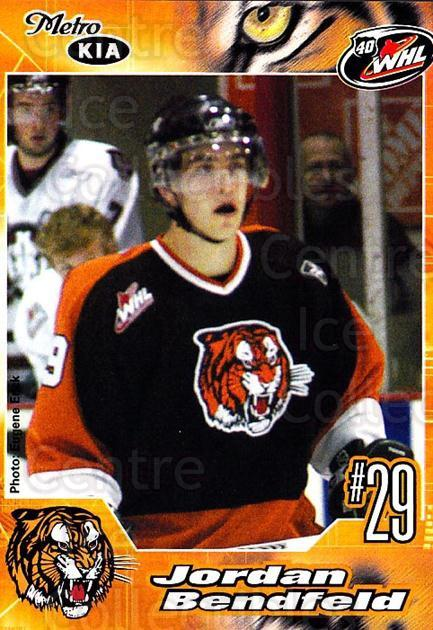 2005-06 Medicine Hat Tigers #4 Jordan Bendfeld<br/>1 In Stock - $3.00 each - <a href=https://centericecollectibles.foxycart.com/cart?name=2005-06%20Medicine%20Hat%20Tigers%20%234%20Jordan%20Bendfeld...&quantity_max=1&price=$3.00&code=720332 class=foxycart> Buy it now! </a>