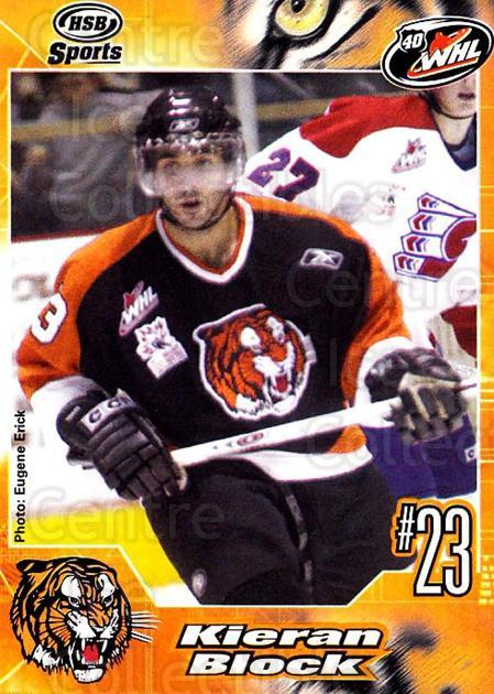 2005-06 Medicine Hat Tigers #5 Kieran Block<br/>1 In Stock - $3.00 each - <a href=https://centericecollectibles.foxycart.com/cart?name=2005-06%20Medicine%20Hat%20Tigers%20%235%20Kieran%20Block...&quantity_max=1&price=$3.00&code=720333 class=foxycart> Buy it now! </a>
