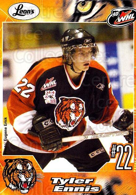2005-06 Medicine Hat Tigers #10 Tyler Ennis<br/>1 In Stock - $3.00 each - <a href=https://centericecollectibles.foxycart.com/cart?name=2005-06%20Medicine%20Hat%20Tigers%20%2310%20Tyler%20Ennis...&quantity_max=1&price=$3.00&code=720335 class=foxycart> Buy it now! </a>