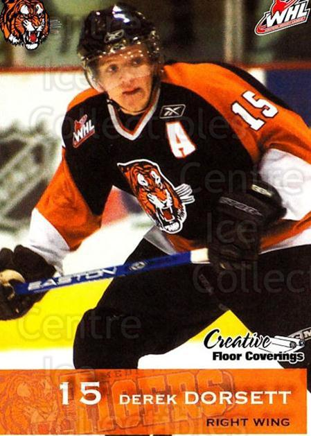 2006-07 Medicine Hat Tigers #5 Derek Dorsett<br/>1 In Stock - $3.00 each - <a href=https://centericecollectibles.foxycart.com/cart?name=2006-07%20Medicine%20Hat%20Tigers%20%235%20Derek%20Dorsett...&quantity_max=1&price=$3.00&code=720344 class=foxycart> Buy it now! </a>