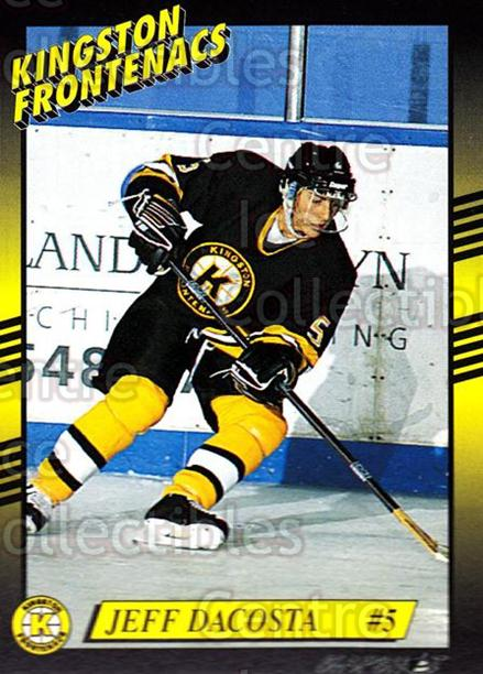 1993-94 Kingston Frontenacs #6 Jeff Dacosta<br/>3 In Stock - $3.00 each - <a href=https://centericecollectibles.foxycart.com/cart?name=1993-94%20Kingston%20Frontenacs%20%236%20Jeff%20Dacosta...&price=$3.00&code=7203 class=foxycart> Buy it now! </a>