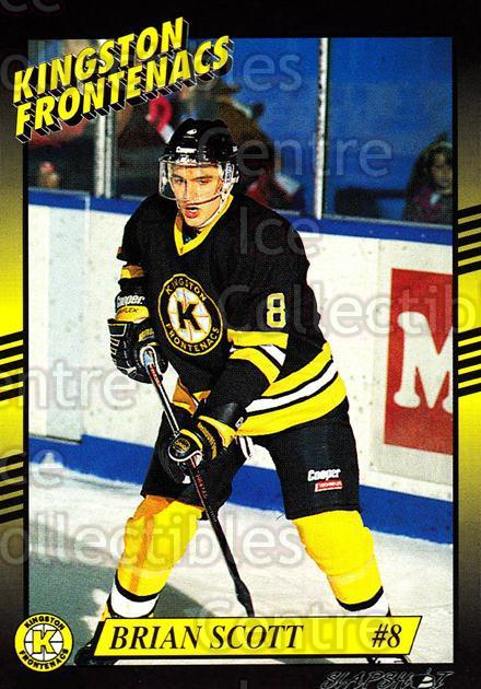 1993-94 Kingston Frontenacs #8 Brian Scott<br/>4 In Stock - $3.00 each - <a href=https://centericecollectibles.foxycart.com/cart?name=1993-94%20Kingston%20Frontenacs%20%238%20Brian%20Scott...&price=$3.00&code=7205 class=foxycart> Buy it now! </a>