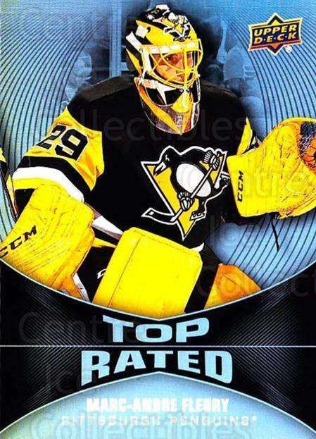 2016-17 Upper Deck Overtime Top Rated #2 Marc-Andre Fleury<br/>3 In Stock - $3.00 each - <a href=https://centericecollectibles.foxycart.com/cart?name=2016-17%20Upper%20Deck%20Overtime%20Top%20Rated%20%232%20Marc-Andre%20Fleu...&quantity_max=3&price=$3.00&code=721062 class=foxycart> Buy it now! </a>