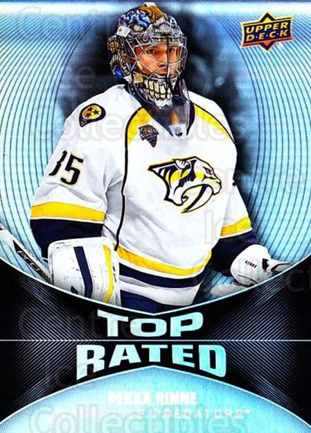 2016-17 Upper Deck Overtime Top Rated #5 Pekka Rinne<br/>4 In Stock - $3.00 each - <a href=https://centericecollectibles.foxycart.com/cart?name=2016-17%20Upper%20Deck%20Overtime%20Top%20Rated%20%235%20Pekka%20Rinne...&quantity_max=4&price=$3.00&code=721065 class=foxycart> Buy it now! </a>
