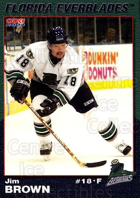 2003-04 Florida Everblades #3 Jim Brown<br/>2 In Stock - $3.00 each - <a href=https://centericecollectibles.foxycart.com/cart?name=2003-04%20Florida%20Everblades%20%233%20Jim%20Brown...&price=$3.00&code=721262 class=foxycart> Buy it now! </a>
