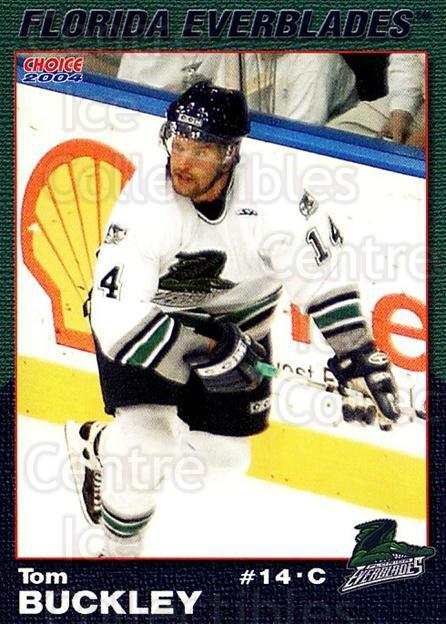 2003-04 Florida Everblades #9 Tom Buckley<br/>2 In Stock - $3.00 each - <a href=https://centericecollectibles.foxycart.com/cart?name=2003-04%20Florida%20Everblades%20%239%20Tom%20Buckley...&price=$3.00&code=721268 class=foxycart> Buy it now! </a>