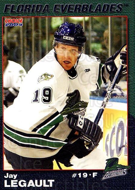 2003-04 Florida Everblades #12 Jay Legault<br/>2 In Stock - $3.00 each - <a href=https://centericecollectibles.foxycart.com/cart?name=2003-04%20Florida%20Everblades%20%2312%20Jay%20Legault...&price=$3.00&code=721271 class=foxycart> Buy it now! </a>