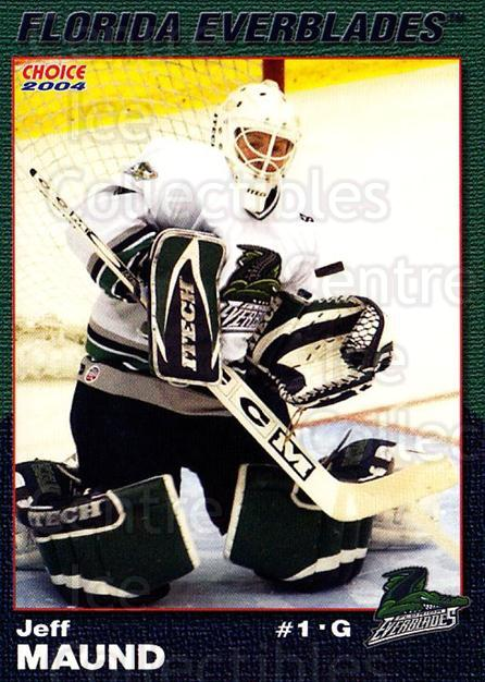 2003-04 Florida Everblades #15 Jeff Maund<br/>2 In Stock - $3.00 each - <a href=https://centericecollectibles.foxycart.com/cart?name=2003-04%20Florida%20Everblades%20%2315%20Jeff%20Maund...&price=$3.00&code=721274 class=foxycart> Buy it now! </a>