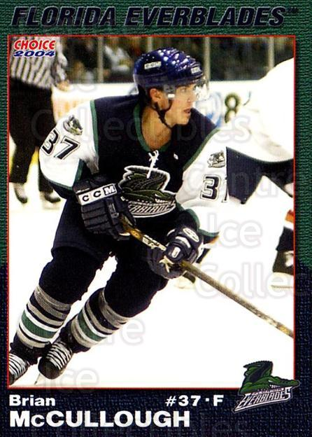 2003-04 Florida Everblades #16 Brian McCullough<br/>2 In Stock - $3.00 each - <a href=https://centericecollectibles.foxycart.com/cart?name=2003-04%20Florida%20Everblades%20%2316%20Brian%20McCulloug...&price=$3.00&code=721275 class=foxycart> Buy it now! </a>