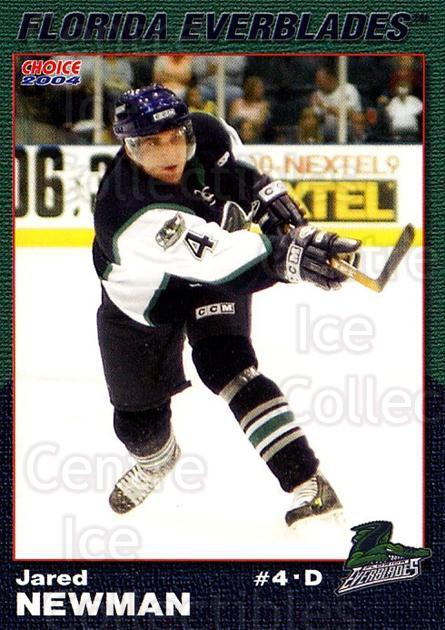 2003-04 Florida Everblades #18 Jared Newman<br/>2 In Stock - $3.00 each - <a href=https://centericecollectibles.foxycart.com/cart?name=2003-04%20Florida%20Everblades%20%2318%20Jared%20Newman...&price=$3.00&code=721277 class=foxycart> Buy it now! </a>
