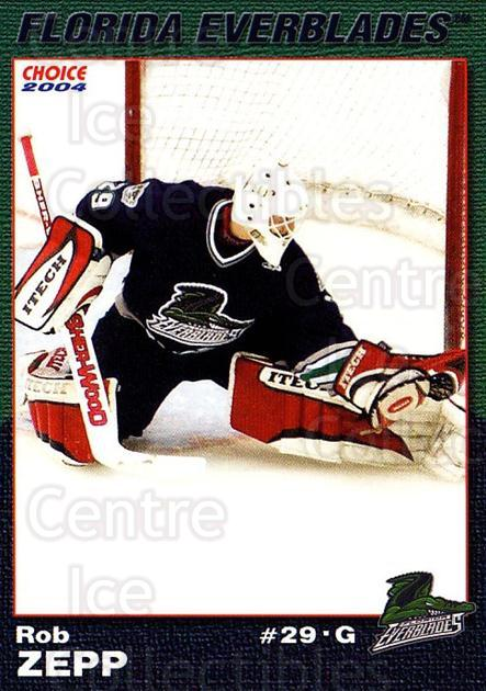 2003-04 Florida Everblades #25 Rob Zepp<br/>2 In Stock - $3.00 each - <a href=https://centericecollectibles.foxycart.com/cart?name=2003-04%20Florida%20Everblades%20%2325%20Rob%20Zepp...&price=$3.00&code=721284 class=foxycart> Buy it now! </a>