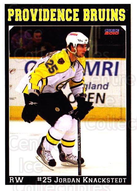2009-10 Providence Bruins #6 Jordan Knackstedt<br/>1 In Stock - $3.00 each - <a href=https://centericecollectibles.foxycart.com/cart?name=2009-10%20Providence%20Bruins%20%236%20Jordan%20Knackste...&quantity_max=1&price=$3.00&code=721290 class=foxycart> Buy it now! </a>
