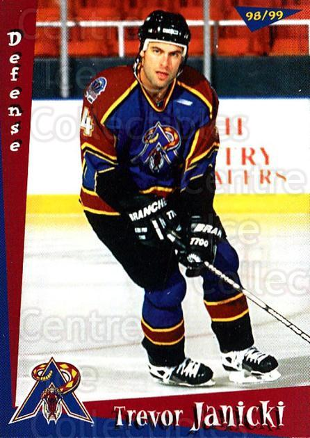 1998-99 Amarillo Rattlers #8 Trevor Janicki<br/>1 In Stock - $3.00 each - <a href=https://centericecollectibles.foxycart.com/cart?name=1998-99%20Amarillo%20Rattlers%20%238%20Trevor%20Janicki...&quantity_max=1&price=$3.00&code=721366 class=foxycart> Buy it now! </a>
