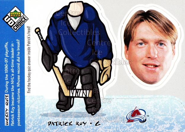 1998-99 UD Choice Bobbing Head #21 Patrick Roy<br/>4 In Stock - $3.00 each - <a href=https://centericecollectibles.foxycart.com/cart?name=1998-99%20UD%20Choice%20Bobbing%20Head%20%2321%20Patrick%20Roy...&quantity_max=4&price=$3.00&code=72136 class=foxycart> Buy it now! </a>