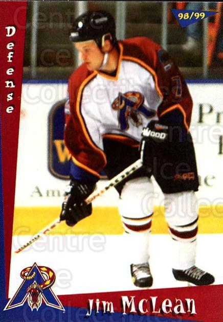 1998-99 Amarillo Rattlers #13 Jim McLean<br/>1 In Stock - $3.00 each - <a href=https://centericecollectibles.foxycart.com/cart?name=1998-99%20Amarillo%20Rattlers%20%2313%20Jim%20McLean...&quantity_max=1&price=$3.00&code=721371 class=foxycart> Buy it now! </a>
