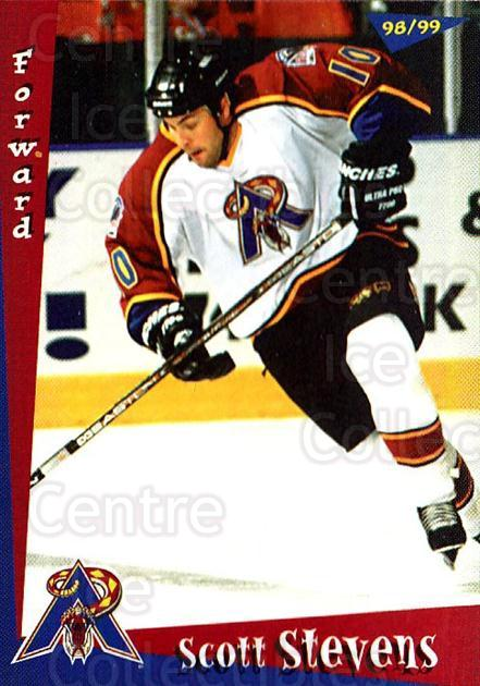 1998-99 Amarillo Rattlers #17 Scott Stevens (2)<br/>1 In Stock - $3.00 each - <a href=https://centericecollectibles.foxycart.com/cart?name=1998-99%20Amarillo%20Rattlers%20%2317%20Scott%20Stevens%20(...&quantity_max=1&price=$3.00&code=721375 class=foxycart> Buy it now! </a>
