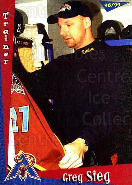 1998-99 Amarillo Rattlers #20 Greg Sieg<br/>1 In Stock - $3.00 each - <a href=https://centericecollectibles.foxycart.com/cart?name=1998-99%20Amarillo%20Rattlers%20%2320%20Greg%20Sieg...&quantity_max=1&price=$3.00&code=721378 class=foxycart> Buy it now! </a>