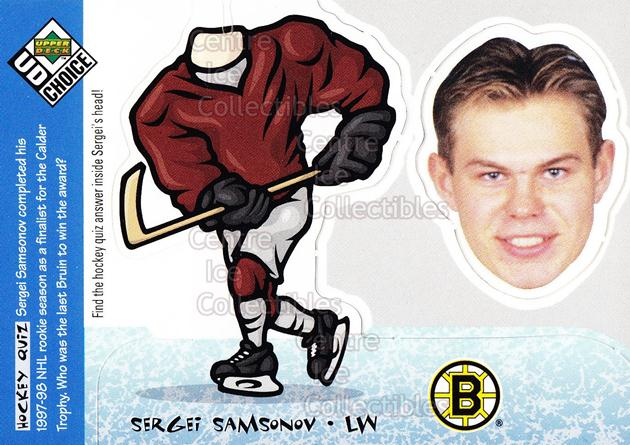 1998-99 UD Choice Bobbing Head #22 Sergei Samsonov<br/>12 In Stock - $2.00 each - <a href=https://centericecollectibles.foxycart.com/cart?name=1998-99%20UD%20Choice%20Bobbing%20Head%20%2322%20Sergei%20Samsonov...&quantity_max=12&price=$2.00&code=72137 class=foxycart> Buy it now! </a>
