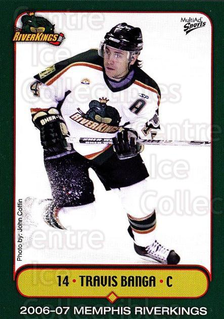 2006-07 Memphis RiverKings #8 Travis Banga<br/>1 In Stock - $3.00 each - <a href=https://centericecollectibles.foxycart.com/cart?name=2006-07%20Memphis%20RiverKings%20%238%20Travis%20Banga...&quantity_max=1&price=$3.00&code=721411 class=foxycart> Buy it now! </a>