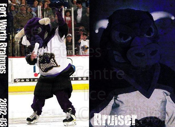 2002-03 Fort Worth Brahmas #20 Mascot<br/>2 In Stock - $3.00 each - <a href=https://centericecollectibles.foxycart.com/cart?name=2002-03%20Fort%20Worth%20Brahmas%20%2320%20Mascot...&quantity_max=2&price=$3.00&code=721468 class=foxycart> Buy it now! </a>