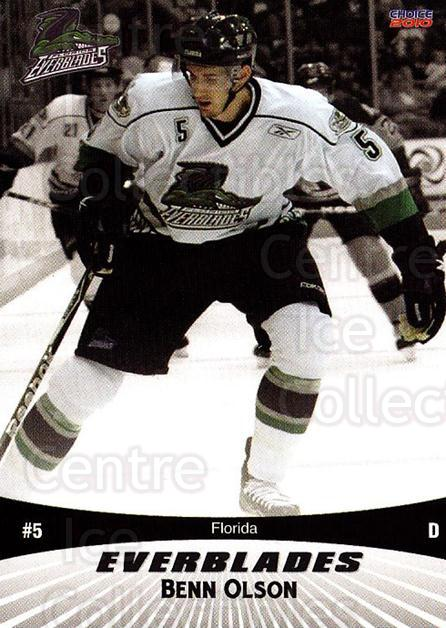 2009-10 Florida Everblades #2 Benn Olson<br/>1 In Stock - $3.00 each - <a href=https://centericecollectibles.foxycart.com/cart?name=2009-10%20Florida%20Everblades%20%232%20Benn%20Olson...&quantity_max=1&price=$3.00&code=721470 class=foxycart> Buy it now! </a>