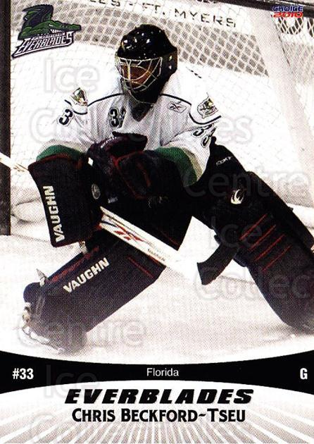 2009-10 Florida Everblades #4 Chris Beckford-Tseu<br/>1 In Stock - $3.00 each - <a href=https://centericecollectibles.foxycart.com/cart?name=2009-10%20Florida%20Everblades%20%234%20Chris%20Beckford-...&quantity_max=1&price=$3.00&code=721472 class=foxycart> Buy it now! </a>