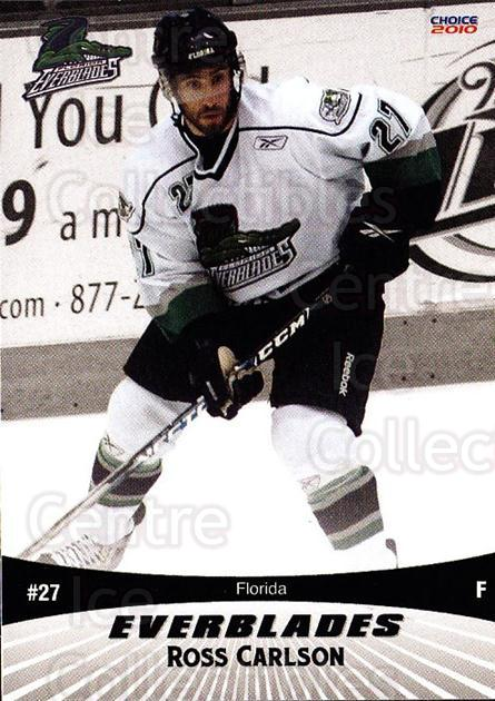 2009-10 Florida Everblades #9 Ross Carlson<br/>1 In Stock - $3.00 each - <a href=https://centericecollectibles.foxycart.com/cart?name=2009-10%20Florida%20Everblades%20%239%20Ross%20Carlson...&price=$3.00&code=721477 class=foxycart> Buy it now! </a>