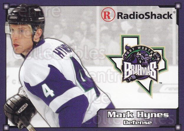 2004-05 Fort Worth Brahmas #7 Mark Hynes<br/>1 In Stock - $3.00 each - <a href=https://centericecollectibles.foxycart.com/cart?name=2004-05%20Fort%20Worth%20Brahmas%20%237%20Mark%20Hynes...&price=$3.00&code=721486 class=foxycart> Buy it now! </a>