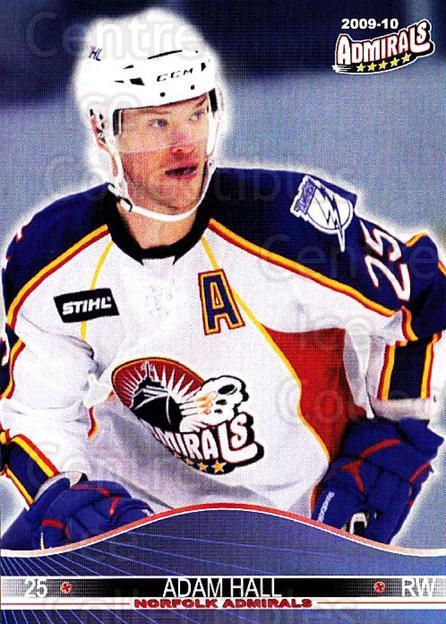 2009-10 Norfolk Admirals #15 Adam Hall<br/>1 In Stock - $3.00 each - <a href=https://centericecollectibles.foxycart.com/cart?name=2009-10%20Norfolk%20Admirals%20%2315%20Adam%20Hall...&price=$3.00&code=721514 class=foxycart> Buy it now! </a>