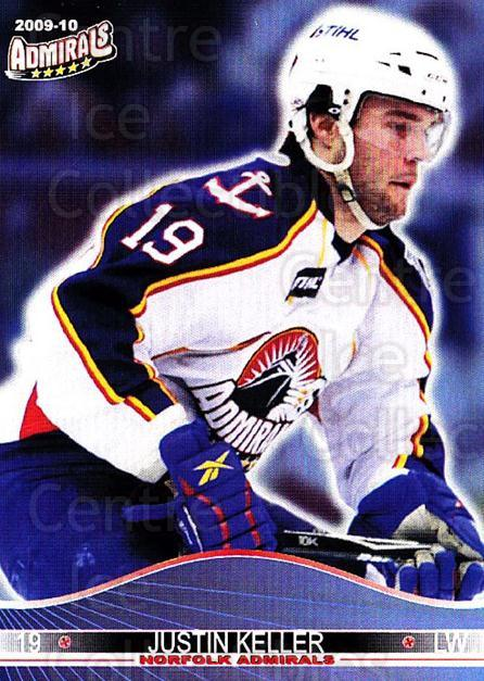 2009-10 Norfolk Admirals #17 Justin Keller<br/>1 In Stock - $3.00 each - <a href=https://centericecollectibles.foxycart.com/cart?name=2009-10%20Norfolk%20Admirals%20%2317%20Justin%20Keller...&price=$3.00&code=721516 class=foxycart> Buy it now! </a>
