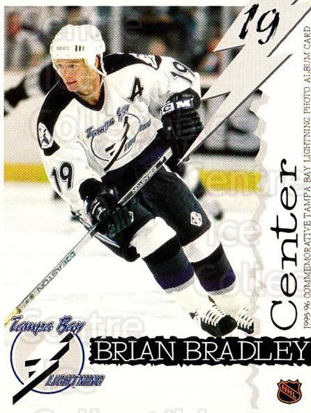 1995-96 Tampa Bay Lightning Skybox Cafe #3 Brian Bradley<br/>1 In Stock - $3.00 each - <a href=https://centericecollectibles.foxycart.com/cart?name=1995-96%20Tampa%20Bay%20Lightning%20Skybox%20Cafe%20%233%20Brian%20Bradley...&quantity_max=1&price=$3.00&code=723362 class=foxycart> Buy it now! </a>