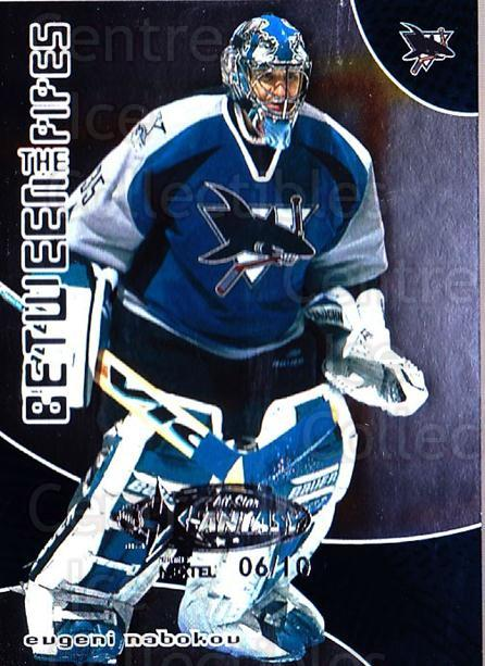 2001-02 Between the Pipes AS Fantasy Redemption #27 Evgeni Nabokov<br/>1 In Stock - $10.00 each - <a href=https://centericecollectibles.foxycart.com/cart?name=2001-02%20Between%20the%20Pipes%20AS%20Fantasy%20Redemption%20%2327%20Evgeni%20Nabokov...&quantity_max=1&price=$10.00&code=723497 class=foxycart> Buy it now! </a>