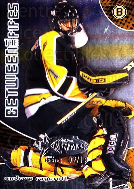2001-02 Between the Pipes AS Fantasy Redemption #32 Andrew Raycroft<br/>1 In Stock - $10.00 each - <a href=https://centericecollectibles.foxycart.com/cart?name=2001-02%20Between%20the%20Pipes%20AS%20Fantasy%20Redemption%20%2332%20Andrew%20Raycroft...&quantity_max=1&price=$10.00&code=723503 class=foxycart> Buy it now! </a>