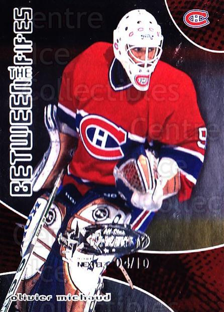 2001-02 Between the Pipes AS Fantasy Redemption #85 Olivier Michaud<br/>1 In Stock - $10.00 each - <a href=https://centericecollectibles.foxycart.com/cart?name=2001-02%20Between%20the%20Pipes%20AS%20Fantasy%20Redemption%20%2385%20Olivier%20Michaud...&quantity_max=1&price=$10.00&code=723552 class=foxycart> Buy it now! </a>