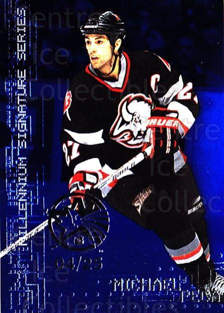 1999-00 BAP Millennium AS Game Sapphire #30 Mike Peca<br/>1 In Stock - $10.00 each - <a href=https://centericecollectibles.foxycart.com/cart?name=1999-00%20BAP%20Millennium%20AS%20Game%20Sapphire%20%2330%20Mike%20Peca...&quantity_max=1&price=$10.00&code=723616 class=foxycart> Buy it now! </a>