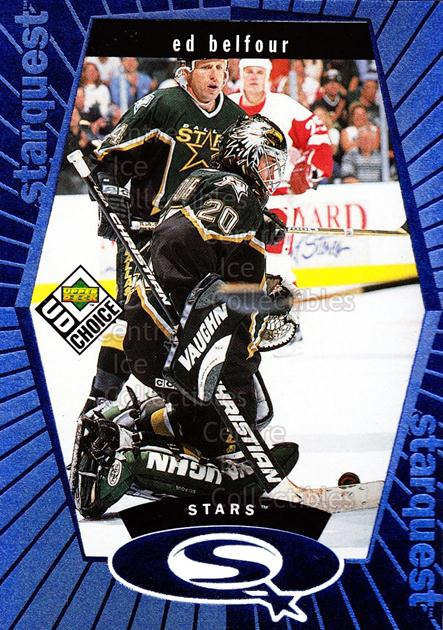 1998-99 UD Choice StarQuest Blue #17 Ed Belfour<br/>7 In Stock - $1.00 each - <a href=https://centericecollectibles.foxycart.com/cart?name=1998-99%20UD%20Choice%20StarQuest%20Blue%20%2317%20Ed%20Belfour...&price=$1.00&code=72362 class=foxycart> Buy it now! </a>