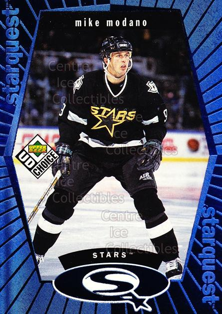<a href=index.aspx?SetName=1998-99%20UD%20Choice%20StarQuest%20Blue>1998-99 UD Choice StarQuest Blue</a> #24 <a href=index.aspx?PlayerName=Mike%20Modano> Mike Modano</a><br/>17 in stock - $1.00 each - <a href=https://centericecollectibles.foxycart.com/cart?name=1998-99%20UD%20Choice%20StarQuest%20Blue%20%2324%20Mike%20Modano...&price=$1.00&code=72370 class=foxycart> Buy it now! </a>