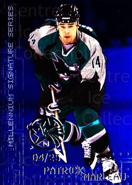 1999-00 BAP Millennium AS Game Sapphire #210 Patrick Marleau<br/>1 In Stock - $10.00 each - <a href=https://centericecollectibles.foxycart.com/cart?name=1999-00%20BAP%20Millennium%20AS%20Game%20Sapphire%20%23210%20Patrick%20Marleau...&quantity_max=1&price=$10.00&code=723747 class=foxycart> Buy it now! </a>