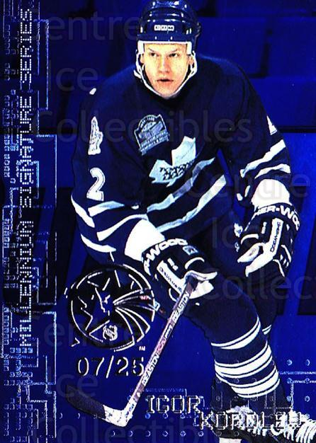 1999-00 BAP Millennium AS Game Sapphire #231 Igor Korolev<br/>1 In Stock - $10.00 each - <a href=https://centericecollectibles.foxycart.com/cart?name=1999-00%20BAP%20Millennium%20AS%20Game%20Sapphire%20%23231%20Igor%20Korolev...&quantity_max=1&price=$10.00&code=723768 class=foxycart> Buy it now! </a>