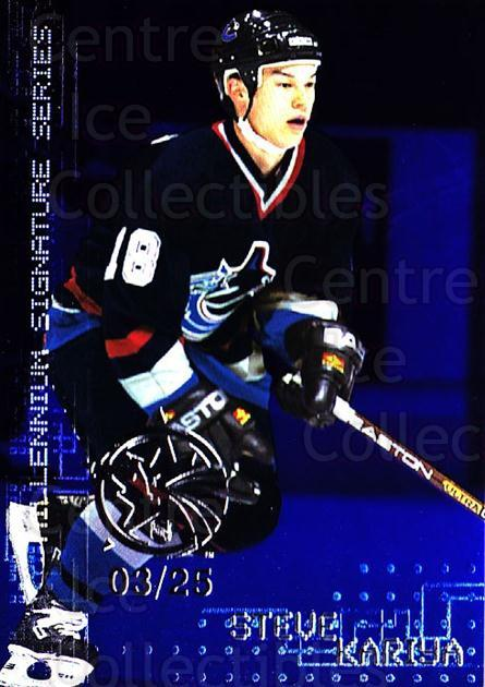 1999-00 BAP Millennium AS Game Sapphire #241 Steve Kariya<br/>1 In Stock - $10.00 each - <a href=https://centericecollectibles.foxycart.com/cart?name=1999-00%20BAP%20Millennium%20AS%20Game%20Sapphire%20%23241%20Steve%20Kariya...&quantity_max=1&price=$10.00&code=723779 class=foxycart> Buy it now! </a>