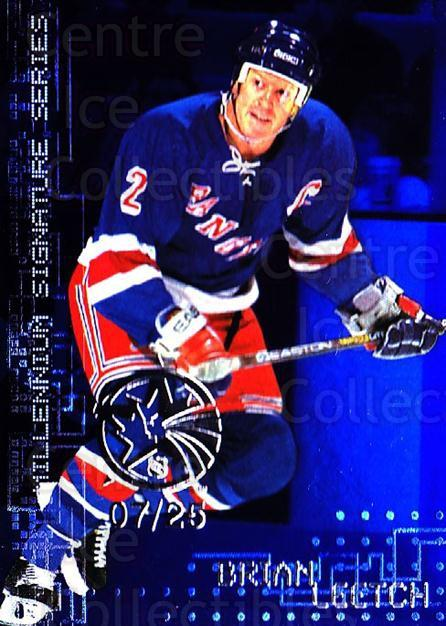 1999-00 BAP Millennium AS Game Sapphire #159 Brian Leetch<br/>1 In Stock - $10.00 each - <a href=https://centericecollectibles.foxycart.com/cart?name=1999-00%20BAP%20Millennium%20AS%20Game%20Sapphire%20%23159%20Brian%20Leetch...&quantity_max=1&price=$10.00&code=723804 class=foxycart> Buy it now! </a>
